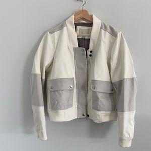 Calvin Klein Jean Bomber Jacket cream and gray